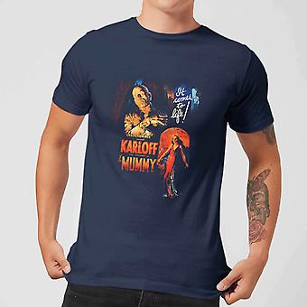 Universal Monsters The Mummy Vintage Poster Men's Camiseta - Marina
