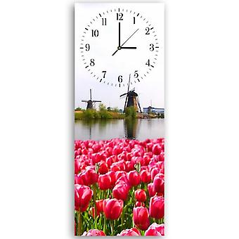 Decorative clock with hanger, Netherlands landscape