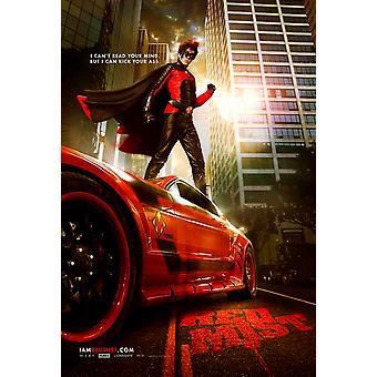 Kick-Ass Poster - roter Nebel (Christopher Mintz-Plasse) doppelseitig Advance us One Sheet (2010) Original Kino Poster