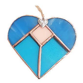 Five Section Heart Turquoise by Simmerdim Design