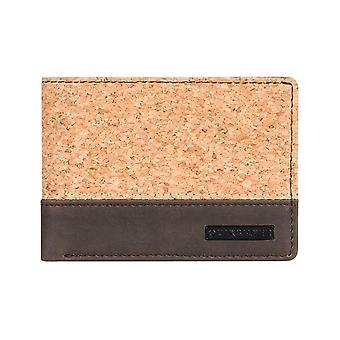 Quiksilver Natiberry Faux Leather Wallet in Chocolate Brown