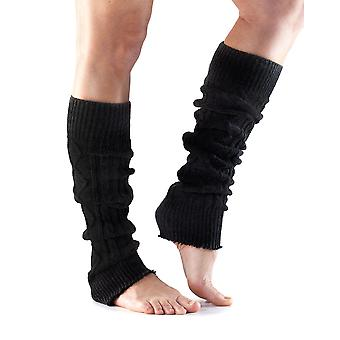 ToeSox Leg Warmers Knee High Ready Muscles For Training Performance - Noir