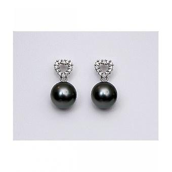 Luna-Pearls Tahitiperlen Diamond Studs O134