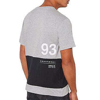 adidas Originals Mens EQT Short Sleeve Colourblock Crew Neck T-Shirt Top - Grey