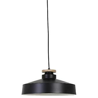 Hanging Lamp Neda Disk Wood Black