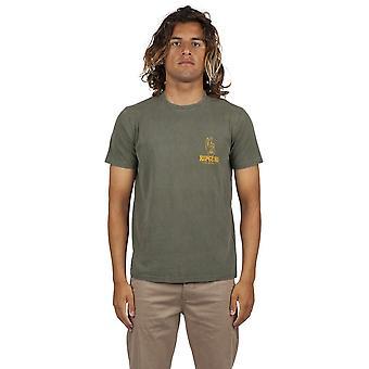 Rip Curl bølget Gravy kortærmet T-shirt i mørkegrå