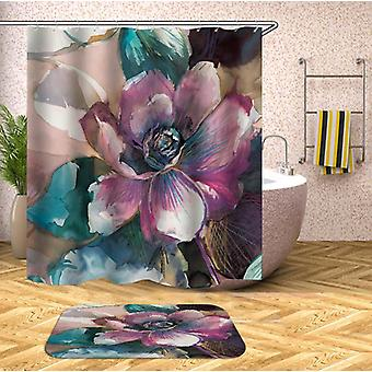 Water Painting Flower Shower Curtain