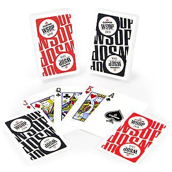 Copag Main Event 2016 WSOP plastikkort-rød/sort-bro