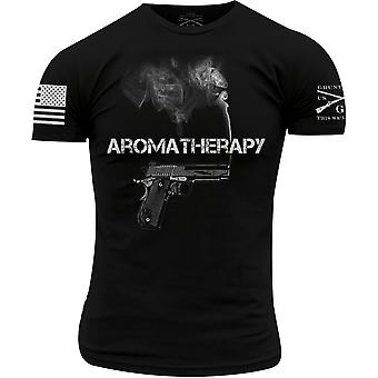 Grunt stil aromaterapi T-skjorte-svart
