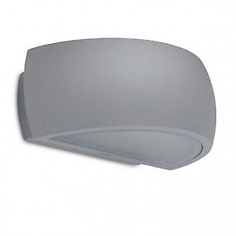 1 Light Outdoor Up Down Wall Light Urban Grey Ip65