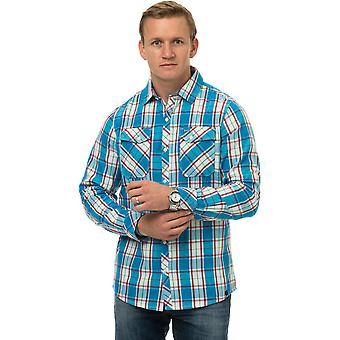 Animal Sandy Long Sleeve Shirt in Mid Blue