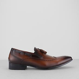 Mister Carlo Giuseppe Mens Brogue Loafers Tan