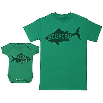 Little Fish - Set Regalo Bambino con Baby Body & Padre's T-Shirt