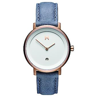 MVMT Signature II Women's Watch Wristwatch Leather D-MF02-WBLU