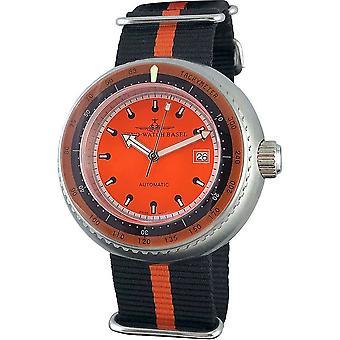 Zeno-Watch - Wristwatch - Men -- Deep Diver tachymeter orange - 500-i5