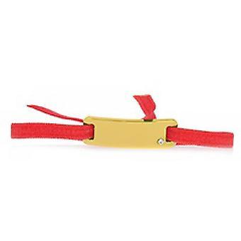 Les austauschbare Armband A55541 - Band Platte glatte Straße Koralle Gold gelb Frauen