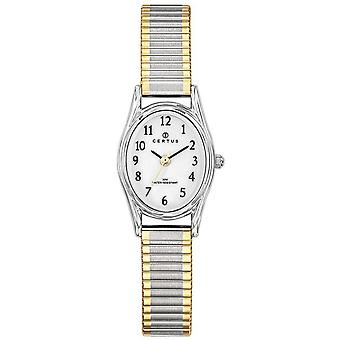 Certus 642369 klocka-silver och kvinnors bicolor stålarmband