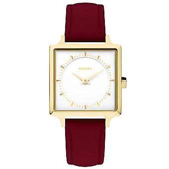 Titta på AMALYS CLARA - klocka läder röd kvinna