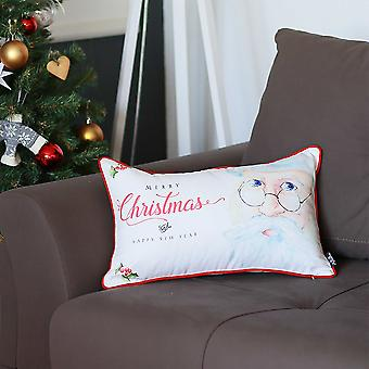 Merry Christmas Happy New Year Decorative Throw Pillow Cover