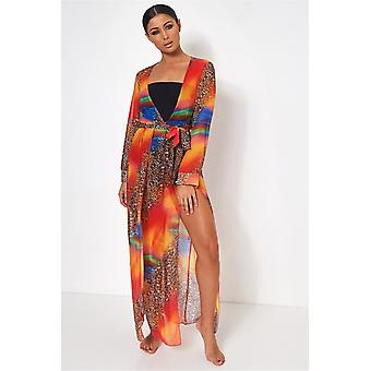 Saca coloured Chiffon Maxi Dress