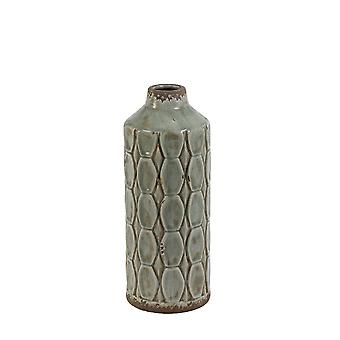 Light & Living Vase Deco 13.5x34.5cm Baluran Grey Green