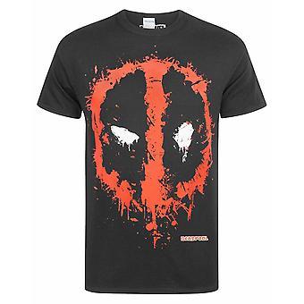 Marvel Deadpool Splat Punainen Logo Miesten & Apos;