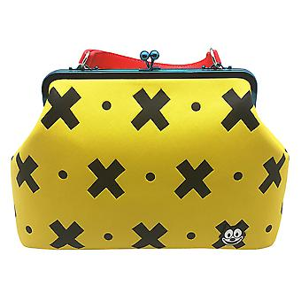 Bolso Bandolera De Felix the Cat Amarillo y Negro