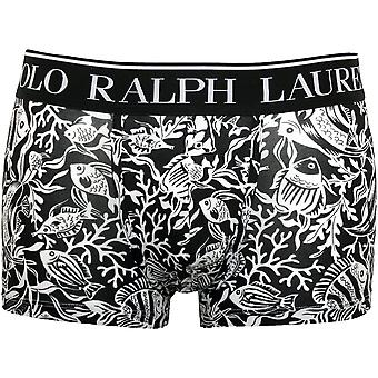 Polo Ralph Lauren Fisk Coral Print Boxer Trunk, Sort / hvid