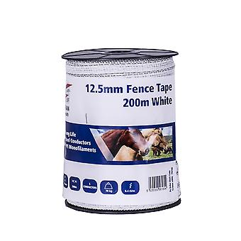 Fenceman Electric Fence White Tape 12.5mm X 200m
