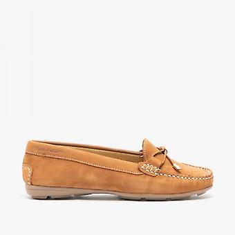 Hush Puppies Maggie Ladies Leather Driving Shoes Tan