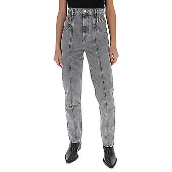 Isabel Marant ÉToile Pa151720p017e02gy Women's Grey Polyester Jeans