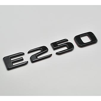 Gloss Black E250 Flat Mercedes Benz Car Model Numbers Letters Badge Emblem For E Class W210 W211 W212 C207/A207 W213 AMG