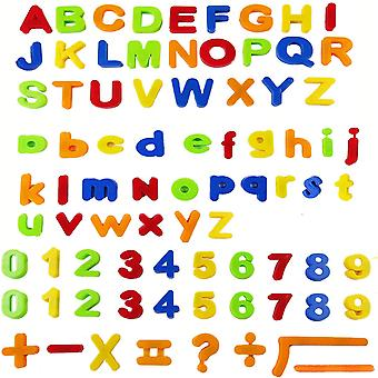 80pcs fargerike magnetiske alfabeter symboler og tall