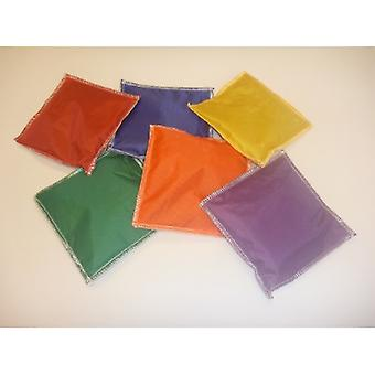 EVC-0026, Square Beanbags 3-quot; ' 3 'quot; - ensemble de 6 couleurs Jeu