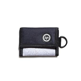 Hype Speckle Fade Trifold Wallet Money Coin Note Purse Black/White