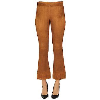 Chloé Ezgl079024 Women's Bronze Polyester Pants