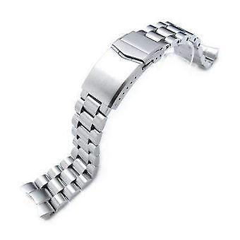 Strapcode ساعة سوار 22mm الصلبة 316l الفولاذ المقاوم للصدأ نهاية سوار ووتش لseiko الغواص skx007/009/011، v-المشبك زر قفل مزدوج