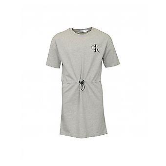 Calvin Klein Farkut Mongram Logo Kiristysnauha Jersey Mekko