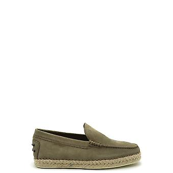 Tod's Ezbc025097 Men's Green Suede Loafers