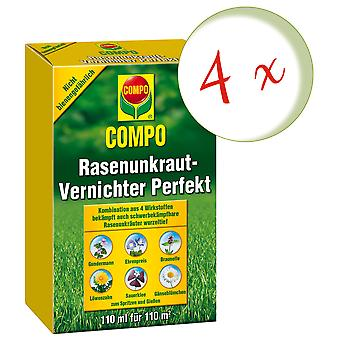 Sparset: 4 x COMPO Lawn Weed Killer Perfect, 110 ml