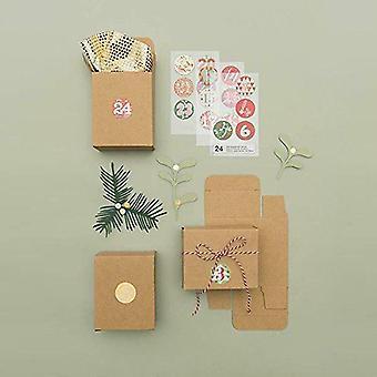 Advent bokser lage din egen DIY Advent kalenderen 24 Mini Brown Kraft bokser