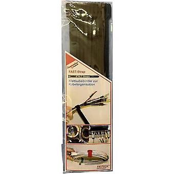 FASTECH® e7-2-330-B10 Gancho e laço cabo para agrupar gancho e almofada de loop (L x W) 200 mm x 7 mm Preto 10 pc(s)