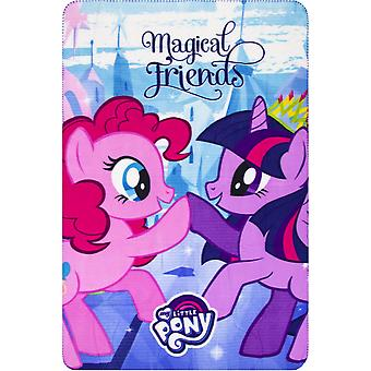 My little pony girls fleece blanket 100 x 150 cm blue