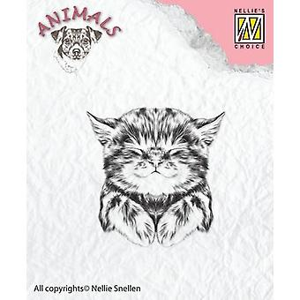 Nellie's Choice Clearstamp - pussycat ANI017  39x40mm
