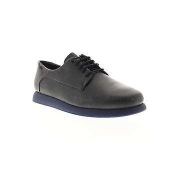 Camper Monday  Womens Black Leather Lace Up Flats Oxfords Shoes