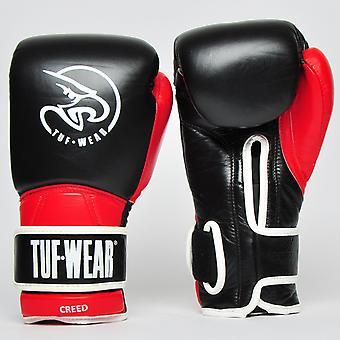 Tuf Wear Creed Gant en cuir Noir / Rouge