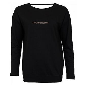 Emporio Armani Loungewear Diamante Logo Relaxed Sweat