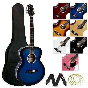 Tiger Acoustic Guitar for Beginners - Blue
