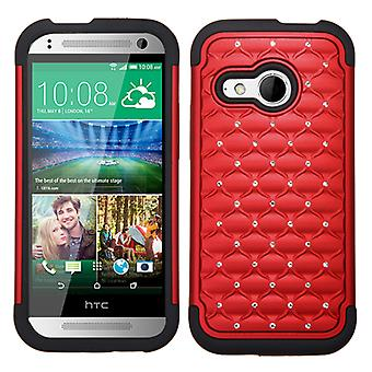 Custodia ASMYNA FullStar Protector per HTC One Remix/One M8 Mini - Red/Black