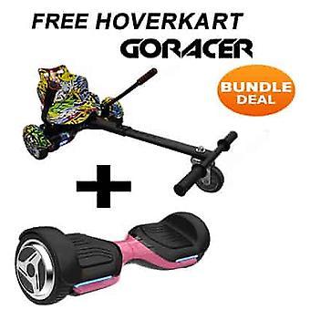 G PRO Pink Segway con un Racer Hip Hop Hovercart